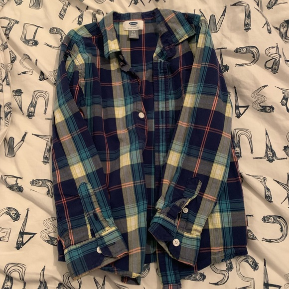 Old Navy Other - Old Navy boys flannel long sleeve button down